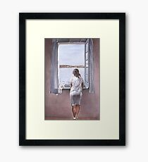 Figure at a Window(Figura en una finestra)-Salvador Dalí  Framed Print