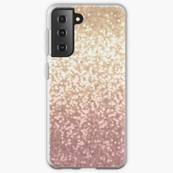 Champagne and Blush Glitter Ombre Samsung Galaxy Soft Case