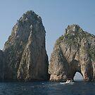 The Faraglioni passage near Capri Italy by Ilan Cohen