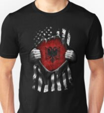 Albanian American Flag. Albania National Flag Unisex T-Shirt