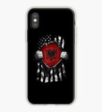 Albanian American Flag. Albania National Flag iPhone Case