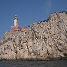 Lighthouse on the mountain in Capri Italy by Ilan Cohen
