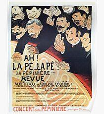 Vintage belle époque French theatre revue ad  Poster