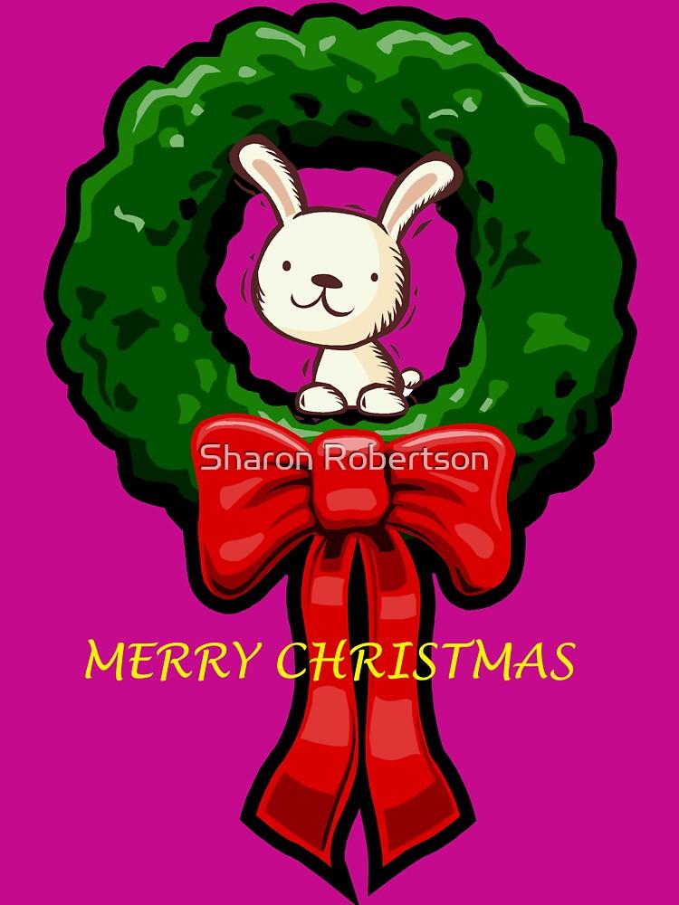 MERRY CHRISTMAS BUNNY by Sharon Robertson