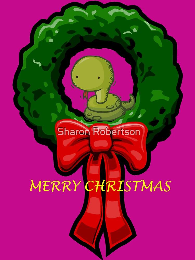 MERRY CHRISTMAS SNAKE by Sharon Robertson