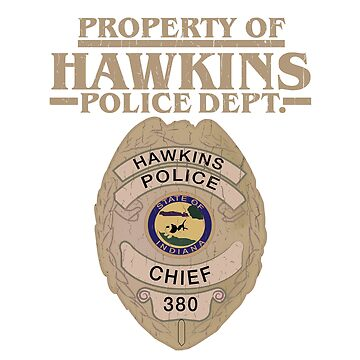 Property of Hawkins Police Dept. - Stranger Things by fonsecastein