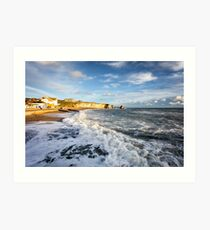 Freshwater Bay Beach Isle Of Wight Art Print