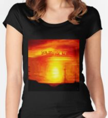 SOLAR POWER Women's Fitted Scoop T-Shirt