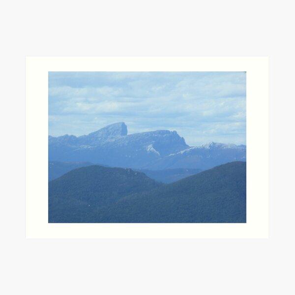 Frenchman's Cap - aerial view - Tasmania Art Print