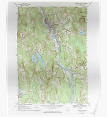 Maine USGS Historical Map Livermore Falls 102696 1967 24000 Poster