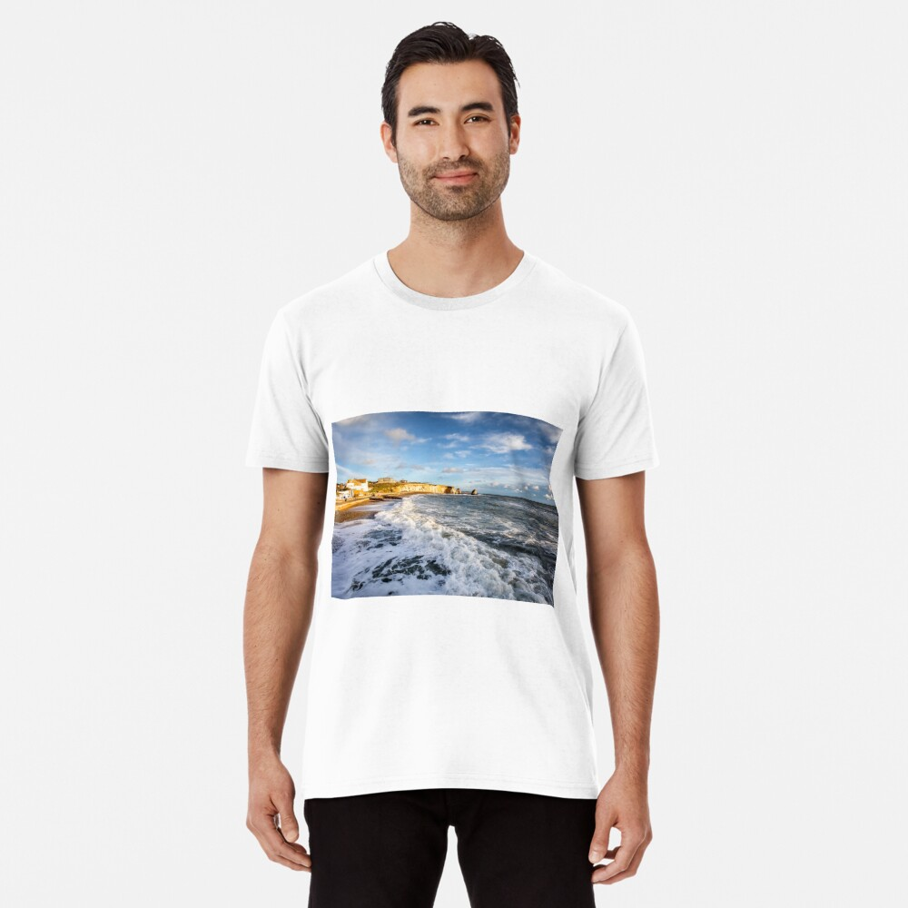 Freshwater Bay Beach Isle Of Wight Premium T-Shirt