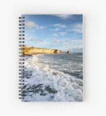 Freshwater Bay Beach Isle Of Wight Spiral Notebook