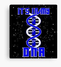 DNA TARDIS Canvas Print