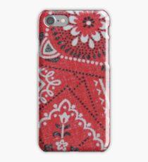 Red Bandana Print iPhone Case/Skin