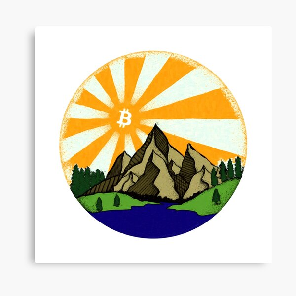 Bitcoin Rise Oil Paint Canvas Print
