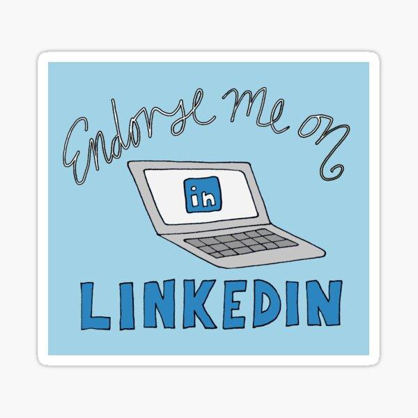 Endorse me on LinkedIn Sticker
