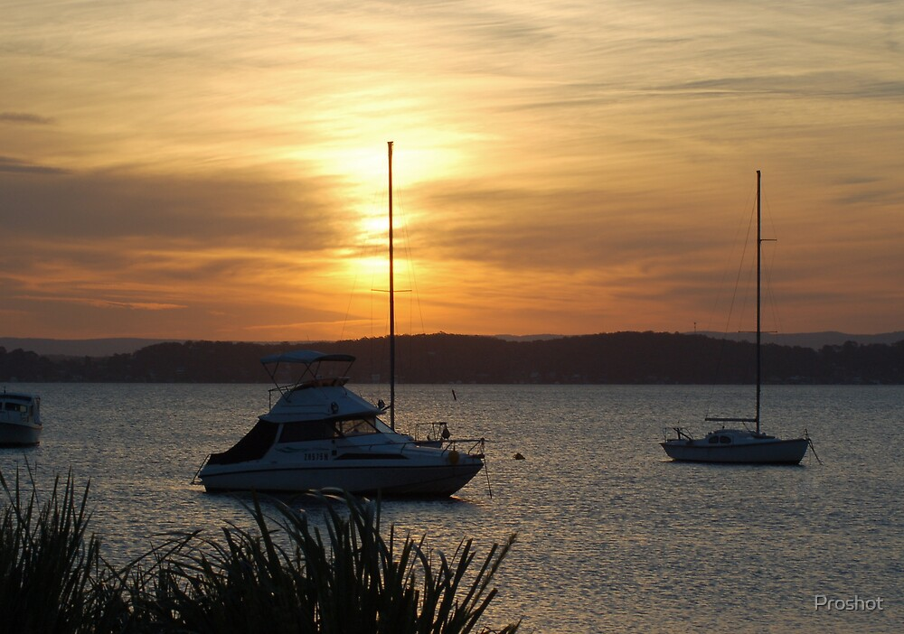 Sunset over the bay by Proshot