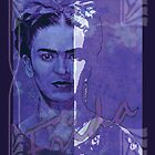 FRIDA Kahlo - between worlds - blue purple by ARTito
