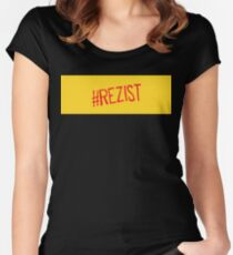 romania rezist slogan Women's Fitted Scoop T-Shirt