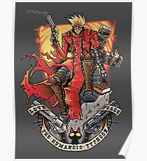 The Humanoid Typhoon - Trigun Poster