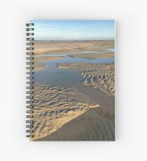 Beach Inlet Low Tide Pools Photography Spiral Notebook