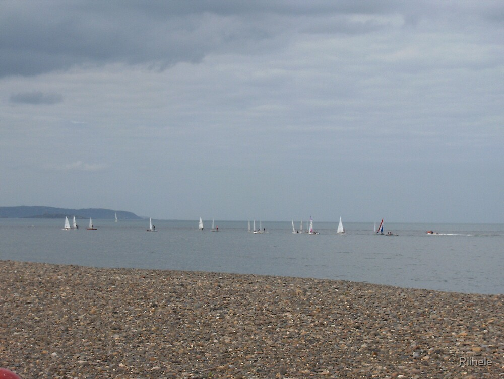 Sailing by Bray Harbour by Riihele