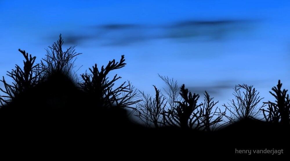 DESERT MORNING by Henry VanderJagt