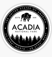 Acadia National Park Maine Emblem Souvenirs Sticker