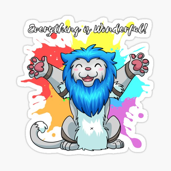 Happy Paintsplash Derpkitty Sticker