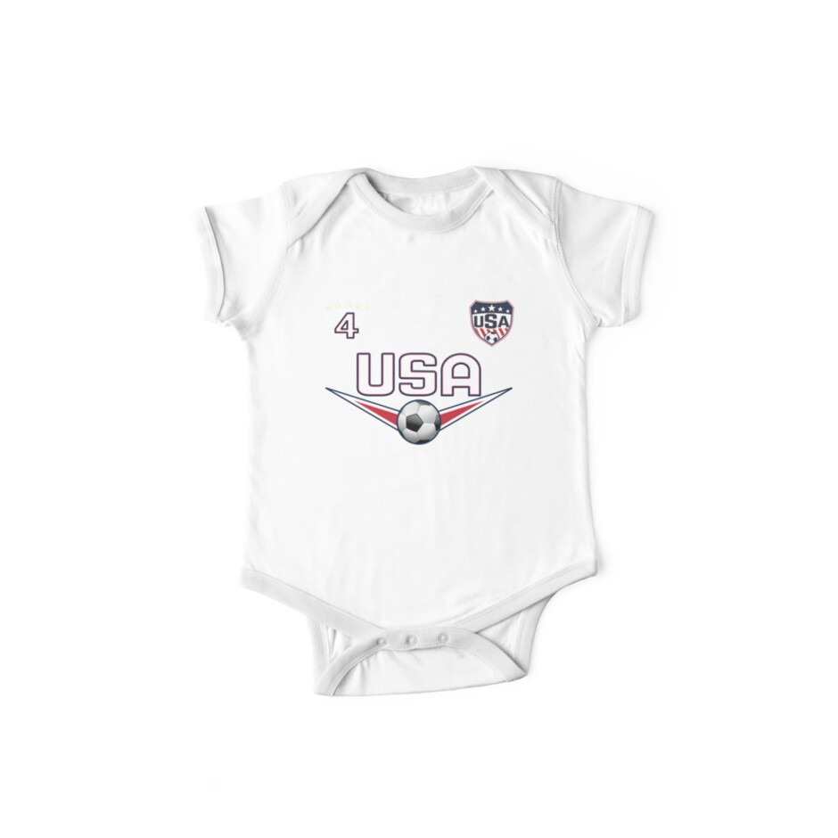 USA Soccer T shirt with Number 4 by fermo