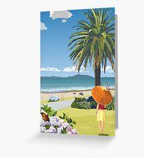 Langs Beach - Northland, New Zealand Greeting Card