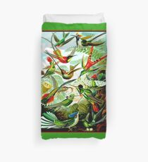 HUMMINGBIRDS; Vintage Art Print Duvet Cover