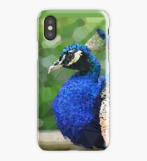 Peacock Low Poly Geometric Triangle Art iPhone Case/Skin