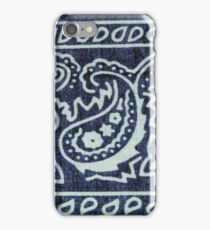 Blue & White Bandana Print iPhone Case/Skin