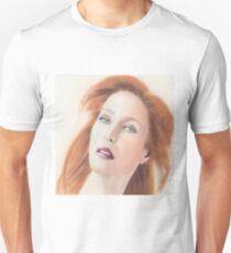 Portrait of Gillian Anderson x files T-Shirt