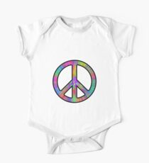 Peace Sign Trippy One Piece - Short Sleeve