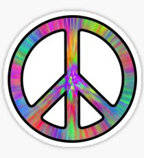 Peace Sign Trippy Sticker