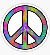 Peace Sign Trippy Sticker