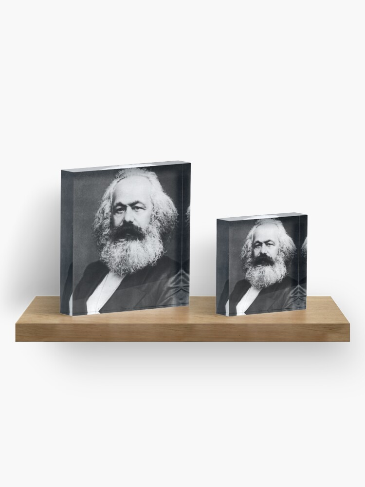 Alternate view of Karl Marx Acrylic Block