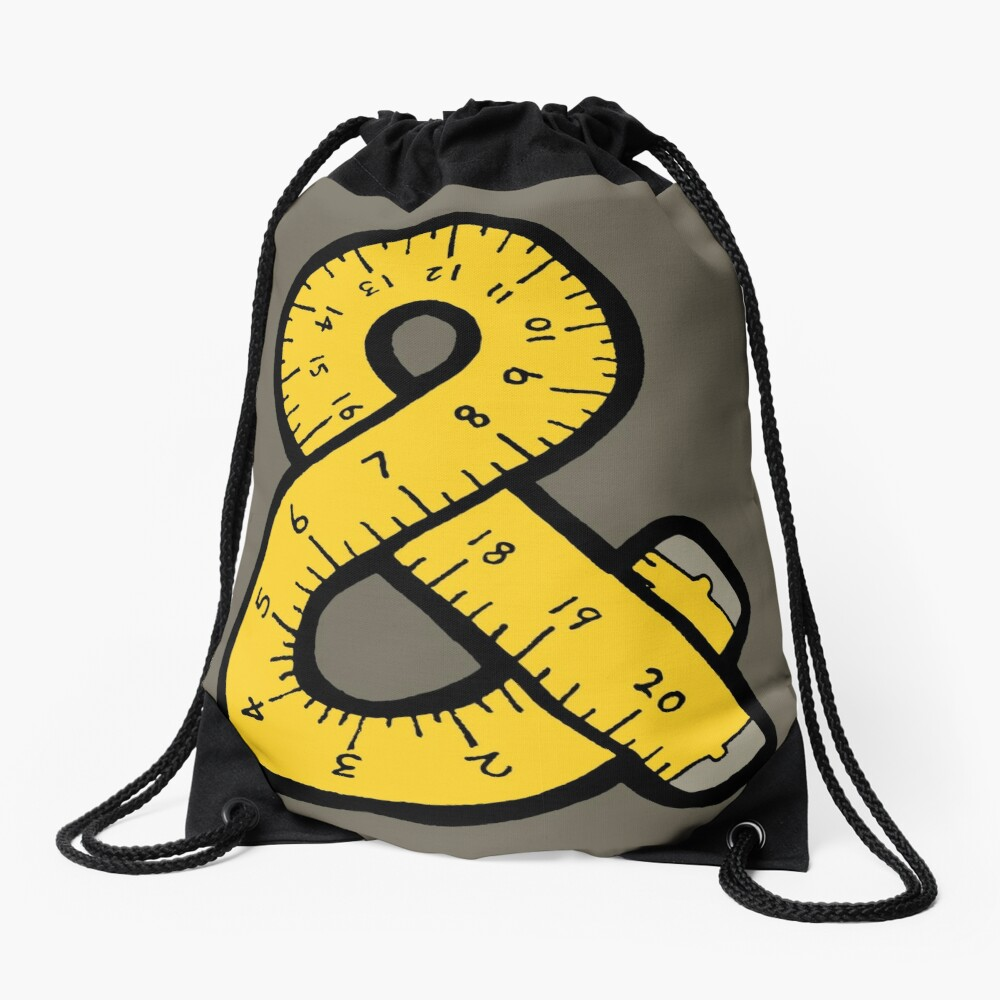 Ampersand Measuring Tape Drawstring Bag