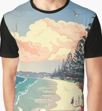 Orewa Beach, New Zealand Graphic T-Shirt