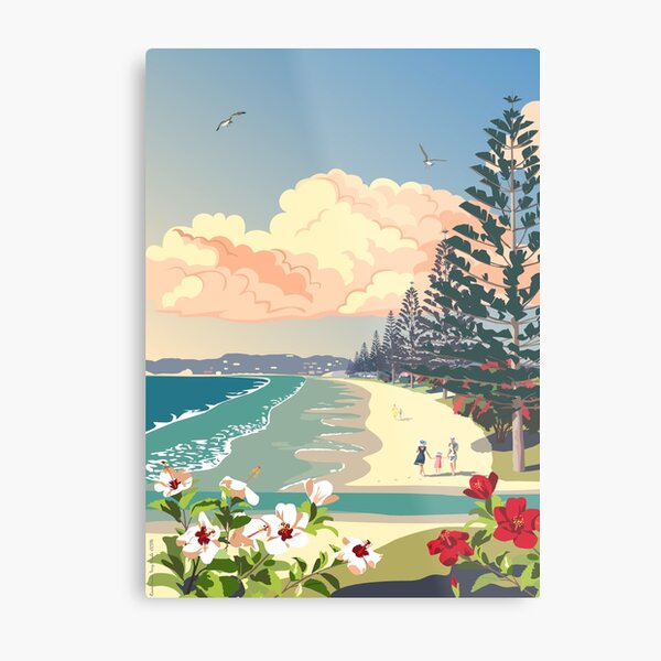 Orewa Beach, New Zealand Metal Print