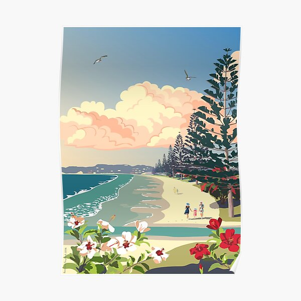 Orewa Beach, New Zealand Poster