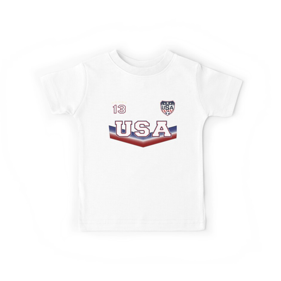 USA Soccer T shirt with Number 13 by fermo