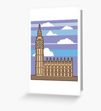 Clock tower London Greeting Card