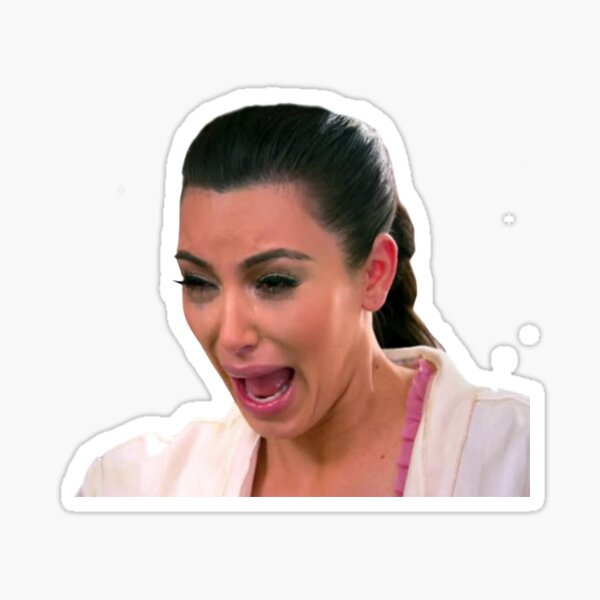 Kim K Crying Face Sticker