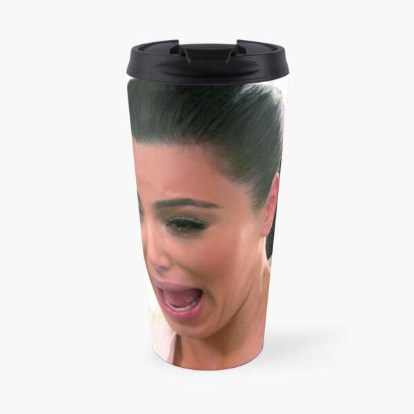 Kim K Crying Face Travel Mug