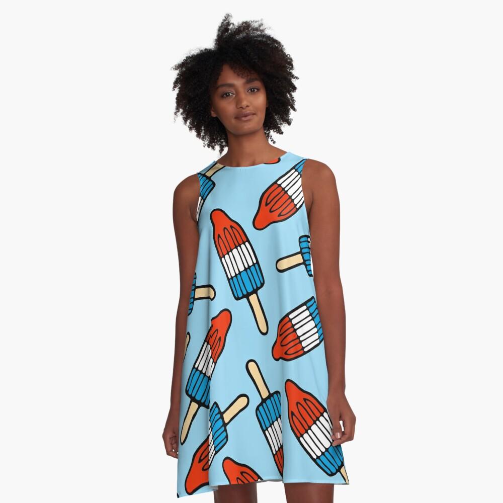 Rocket Popsicle Pattern A-Line Dress