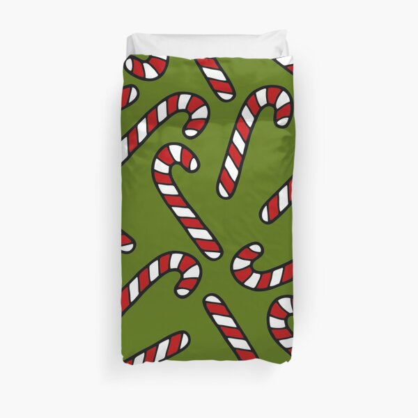 Candy Cane Pattern Duvet Cover