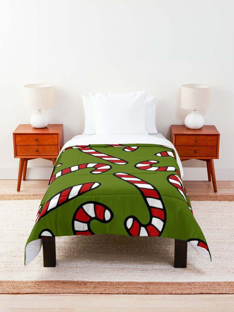Alternate view of Candy Cane Pattern Comforter